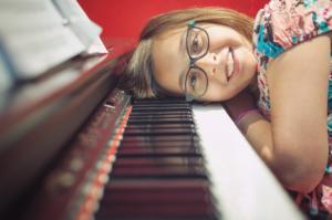 head on piano